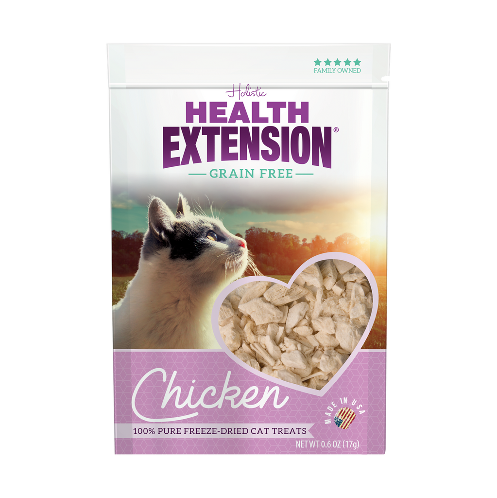 Health Extension Grain Free Freeze Dried Chicken Cat Treats - 0.6 oz