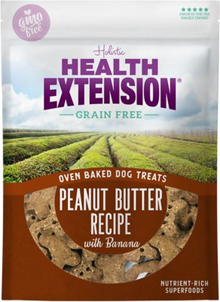 Health Extension Grain Free Peanut Butter with Banana Dog Treats - 2.25 lbs