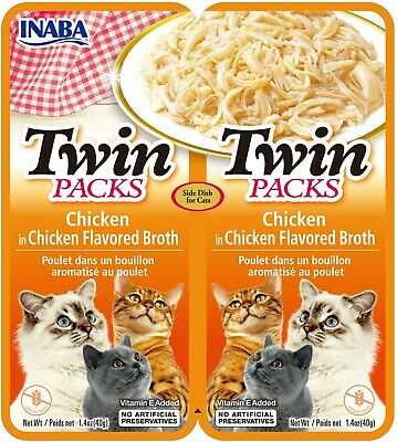 INABA Twin Packs - Chicken Recipe in Chicken Broth for Cats