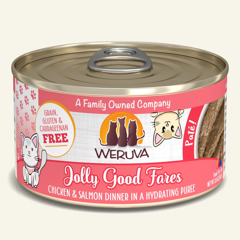 Weruva Jolly Good Fares Chicken & Salmon Dinner Pate for Cats - 3 oz.