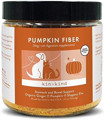 kin+kind Pumpkin Boost Stomach & Bowel Support Dog & Cat Supplement - 4 oz
