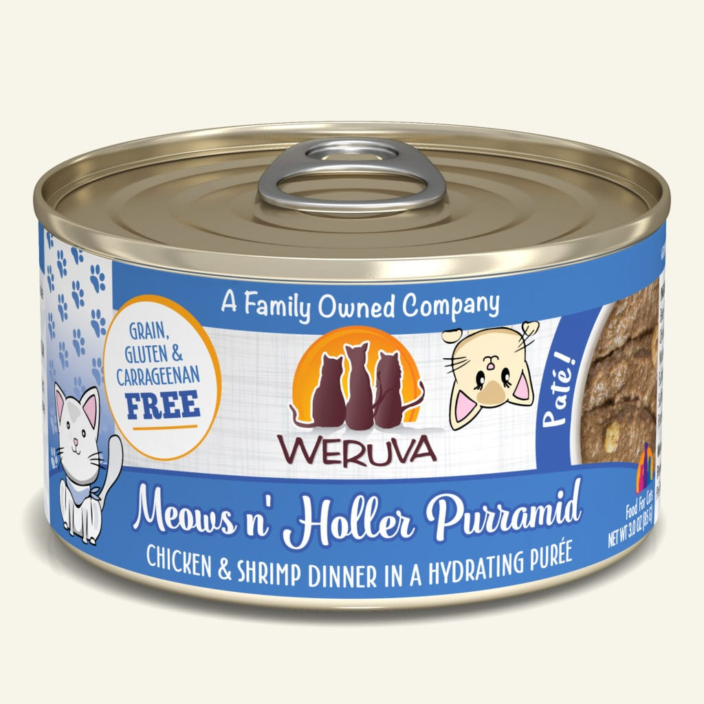 Weruva Meows n' Holler PurrAmid Chicken & Shrimp Dinner Pate for Cats - 3 oz.