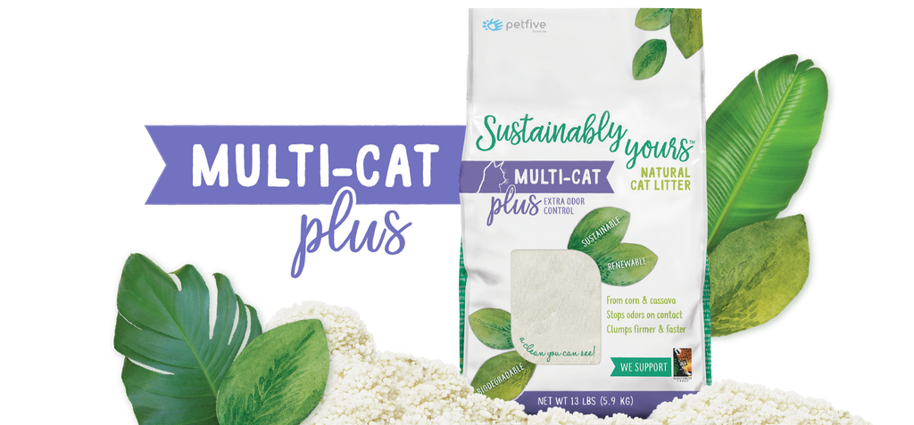 Sustainbly Yours Multi-cat Plus Natural Cat Litter