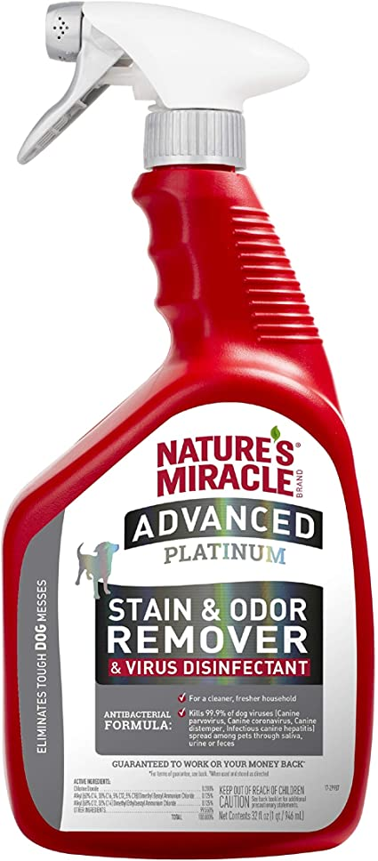 Nature's Miracle Advanced Platinum Stain and Odor Remover Virus Disinfectant - 32 fl oz Trigger Sprayer