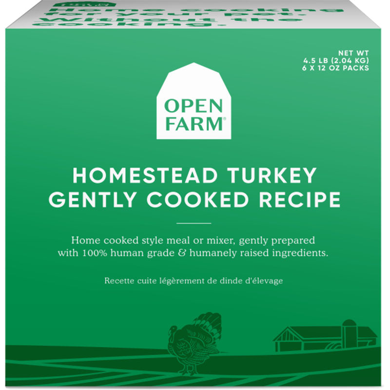 Open Farm Frozen Homestead Turkey Gently Cooked Recipe