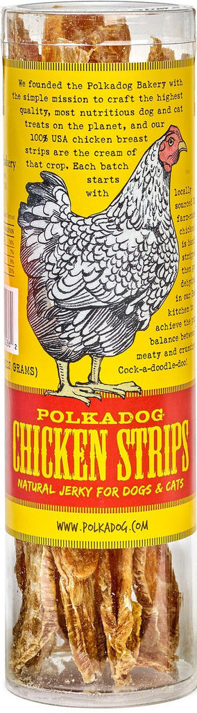 Polkadog Chicken Strips Natural Jerky for Dogs & Cats - 4 oz