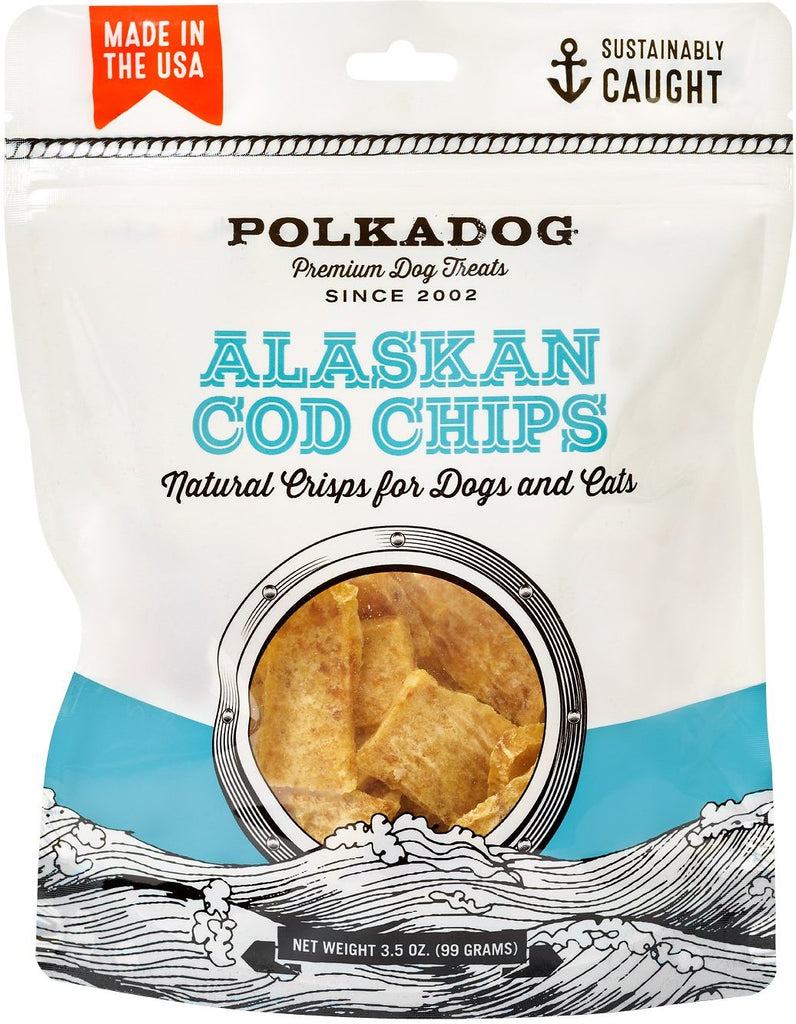 Polkadog Alaskan Cod Chips for Dogs & Cats - 3.5 oz