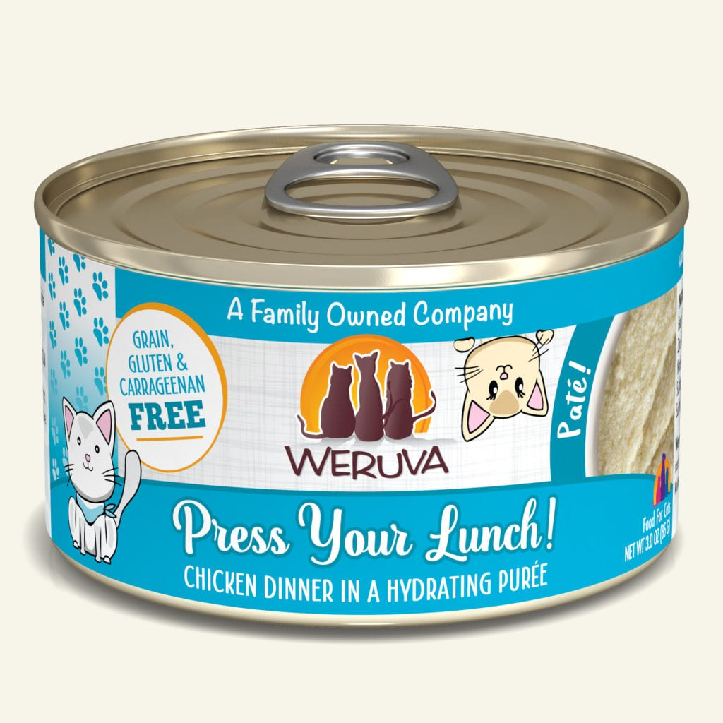 Weruva Press your Lunch! Chicken Dinner Pate for Cats - 3 oz.