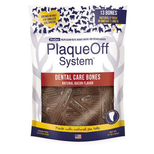 ProDen Plaqueoff Dental Care Bacon Flavor Chew for Dogs - 17 oz