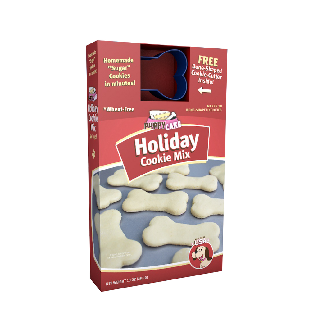 Puppy Cake Holiday Cookie Mix with Bone Shaped Cookie Cutter