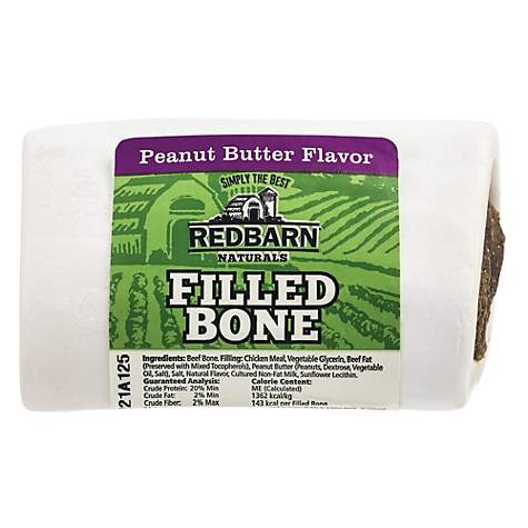 RedBarn Naturals Peanut Butter Flavor Filled Bone - Small