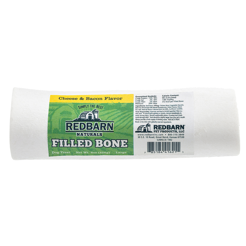 RedBarn Naturals Filled Bone Cheese and Bacon Flavor - Large