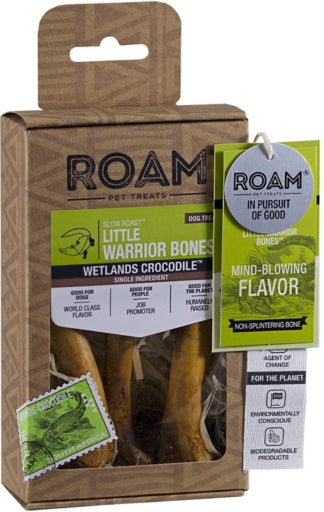 ROAM Little Warrior Bones Wetlands Crocodile Dog Chew Treat - 3 pcs