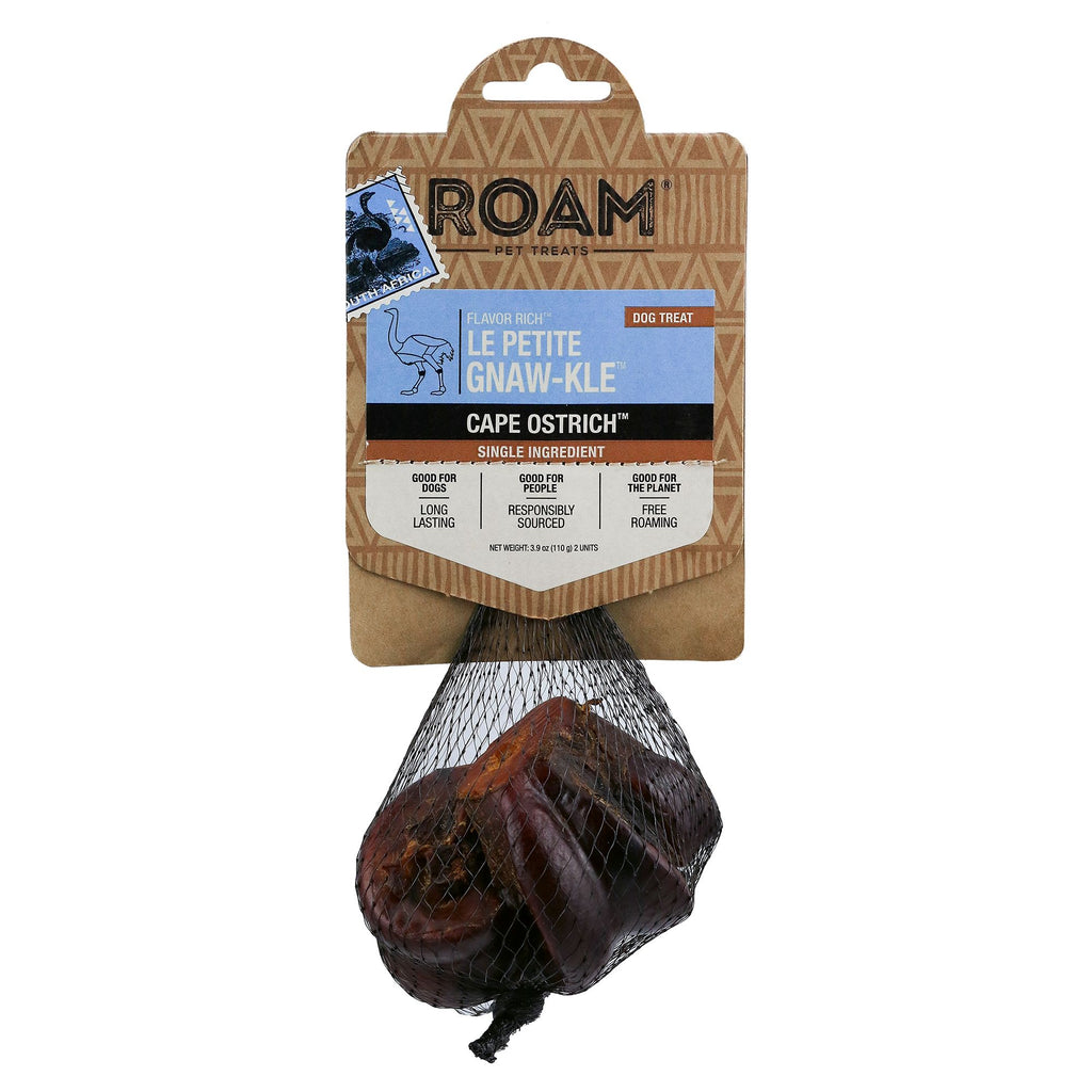 ROAM Le Petite Gnaw-Kle Cape Ostrich Bone Small Dog Chew Treat - 2 pcs.