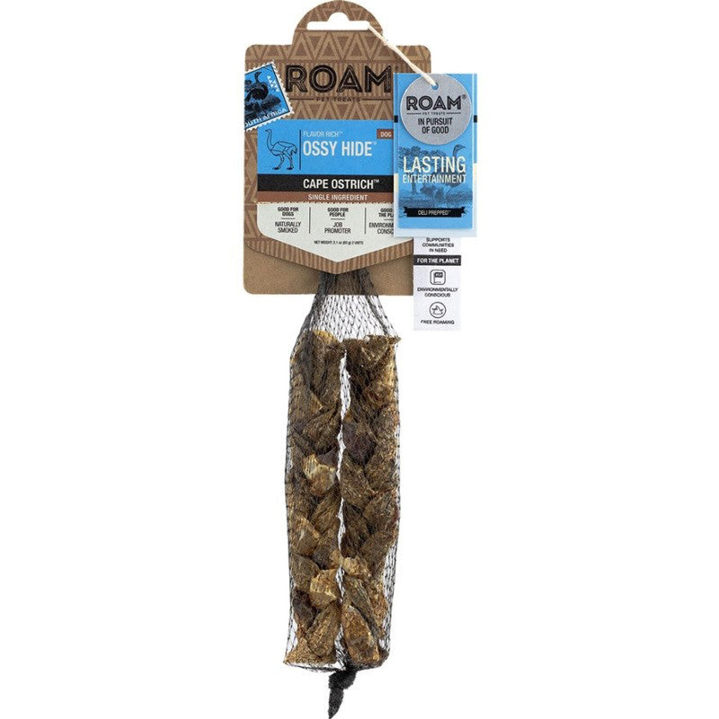 ROAM Ossy Hide Cape Ostrich Dog Treat - 2 pcs