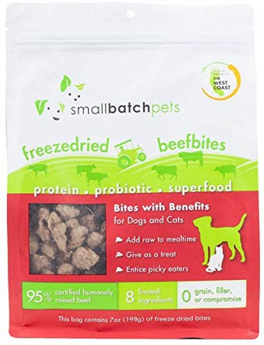 SmallBatch Freeze Dried Beef Bites Treats for Dogs and Cats - 7 oz