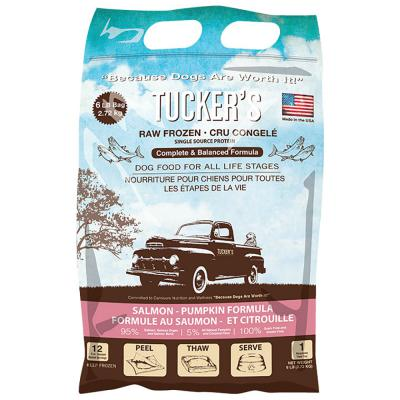 Tucker's Frozen Raw Salmon Pumpkin Complete and Balanced Dog Food
