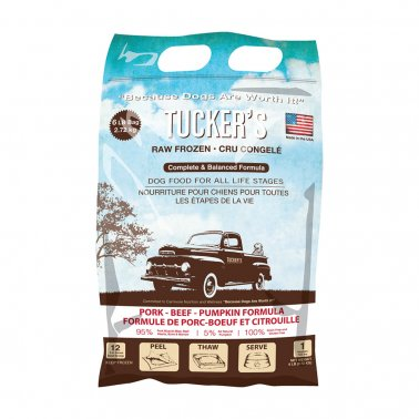 Tucker's Frozen Raw Pork Beef Pumpkin Complete and Balanced Dog Food