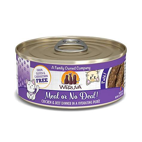 Weruva Meal or No Deal! Chicken & Beef Dinner Pate for Cats - 5.5 oz.