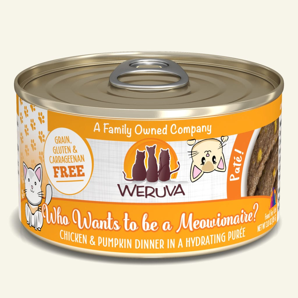 Weruva Who wants to be a Meowionaire? Chicken & Pumpkin Dinner Pate for Cats - 3 oz.