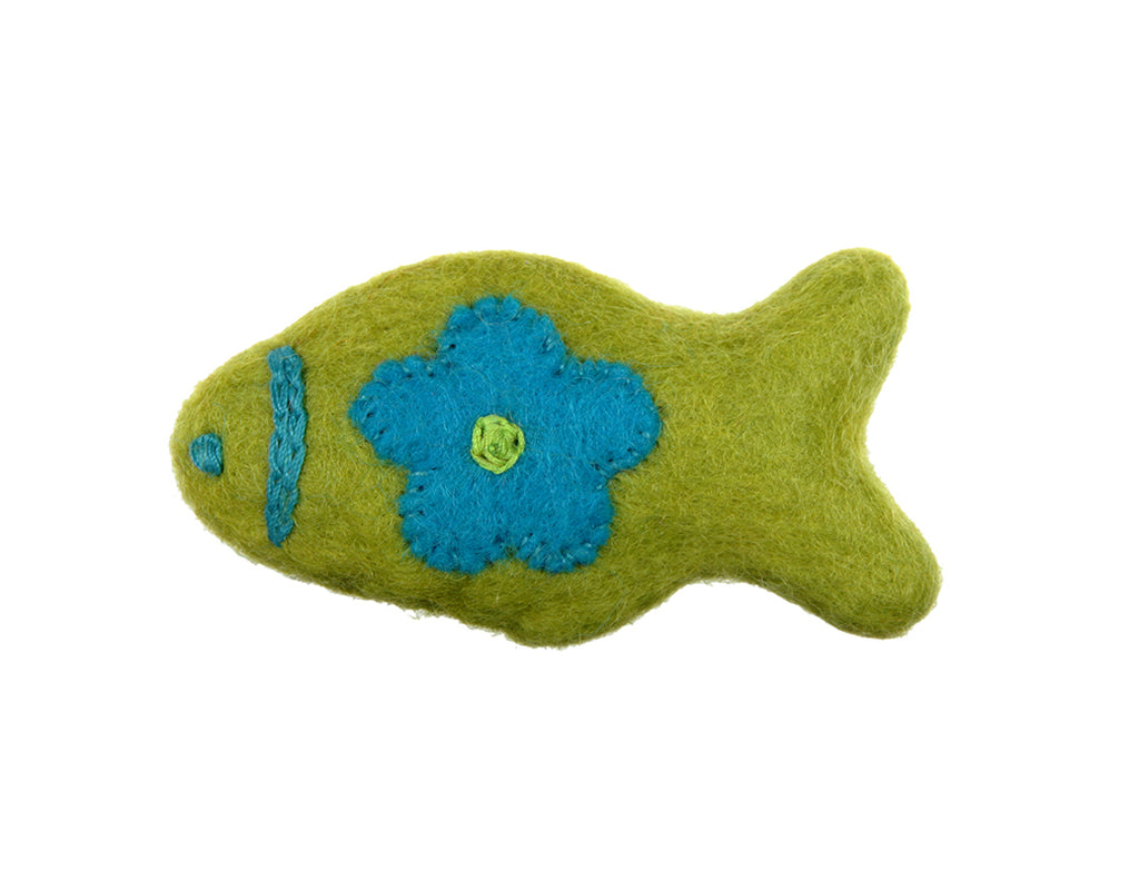 Wooly Wonkz Woodland Fish Toy for Cats
