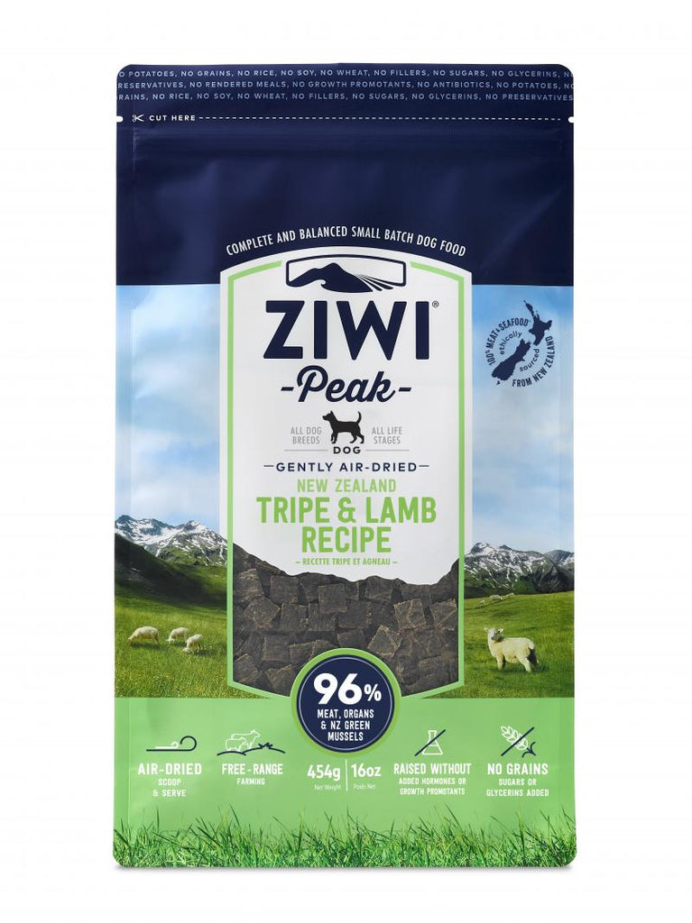 ZIWI Peak Gently Air-Dried New Zealand Tripe & Lamb Dog Food