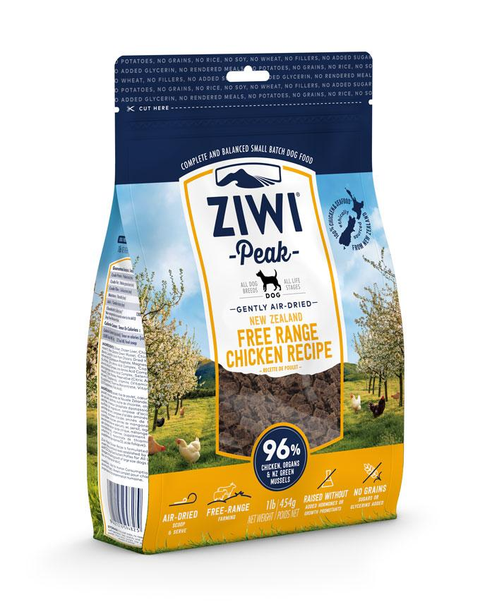 ZIWI Peak Gently Air-Dried New Zealand Free Range Chicken Dog Food