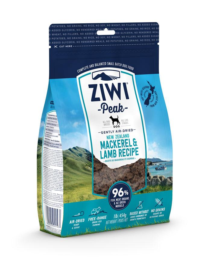 ZIWI Peak Gently Air-Dried New Zealand Mackerel & Lamb Dog Food