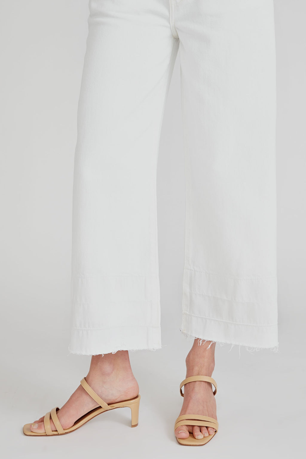 Devon High Rise Wide Leg Crop - Vintage White