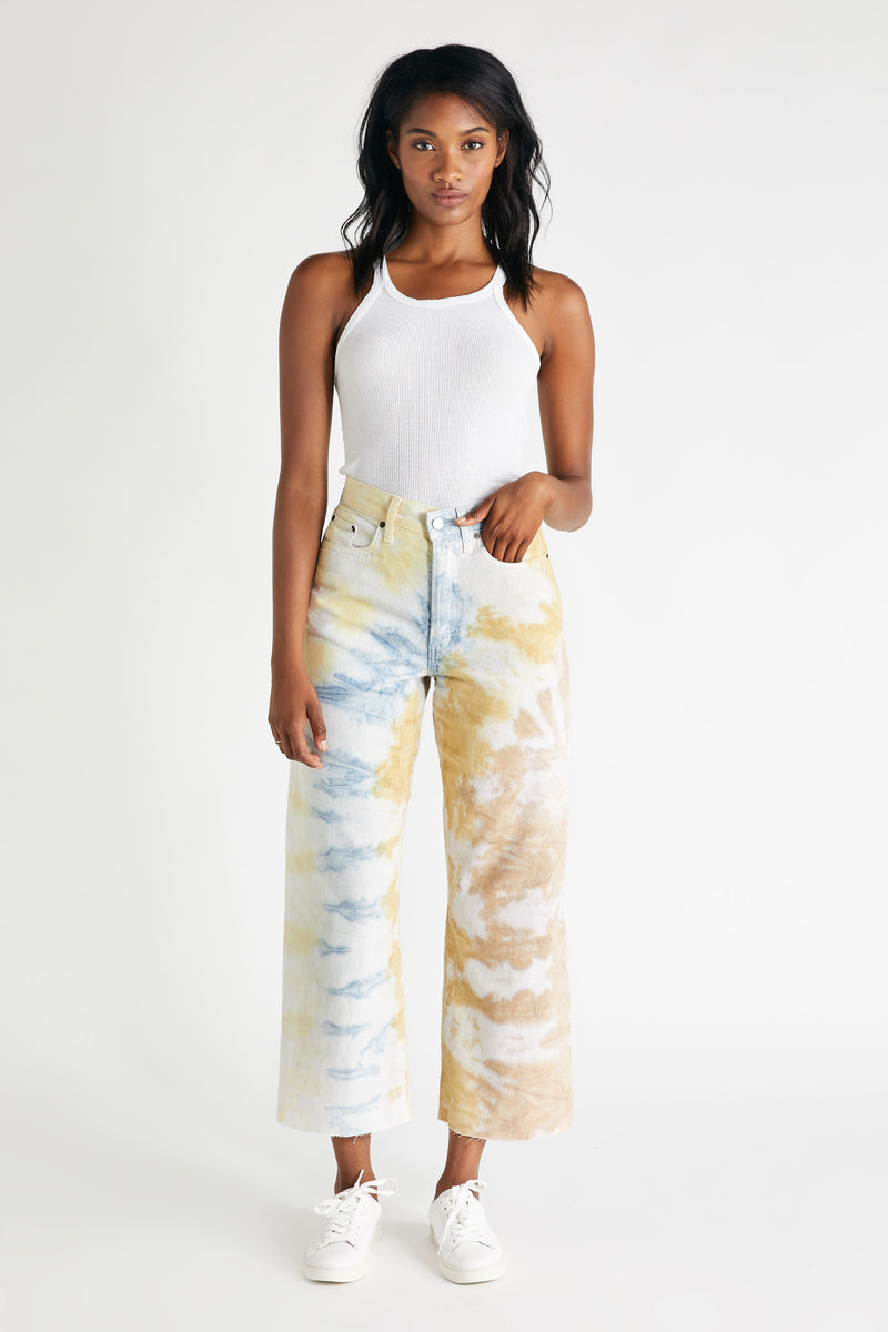 Devon Crop - Botanical Tie Dye