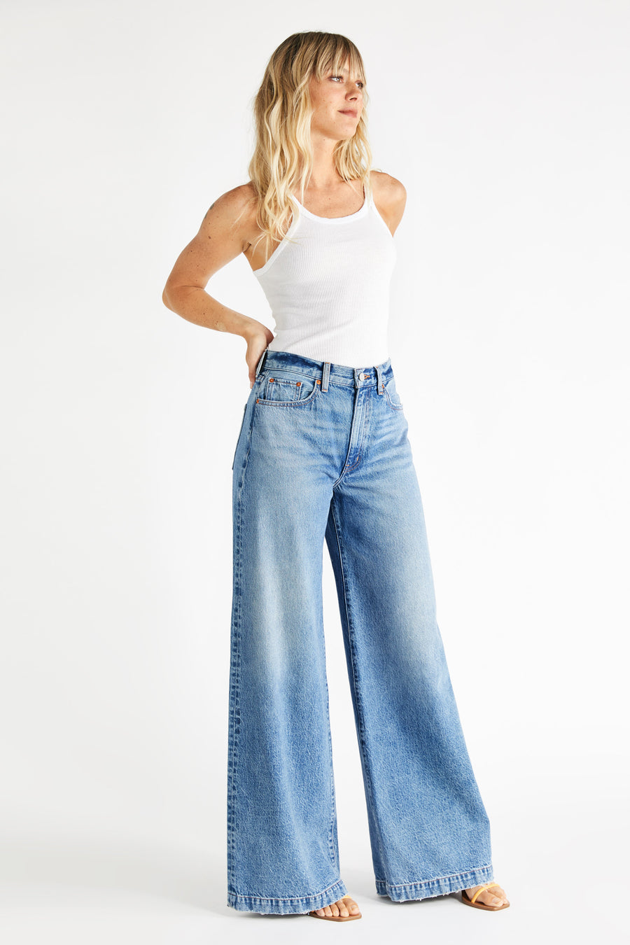 Devon Wide Leg - Titanic Blue