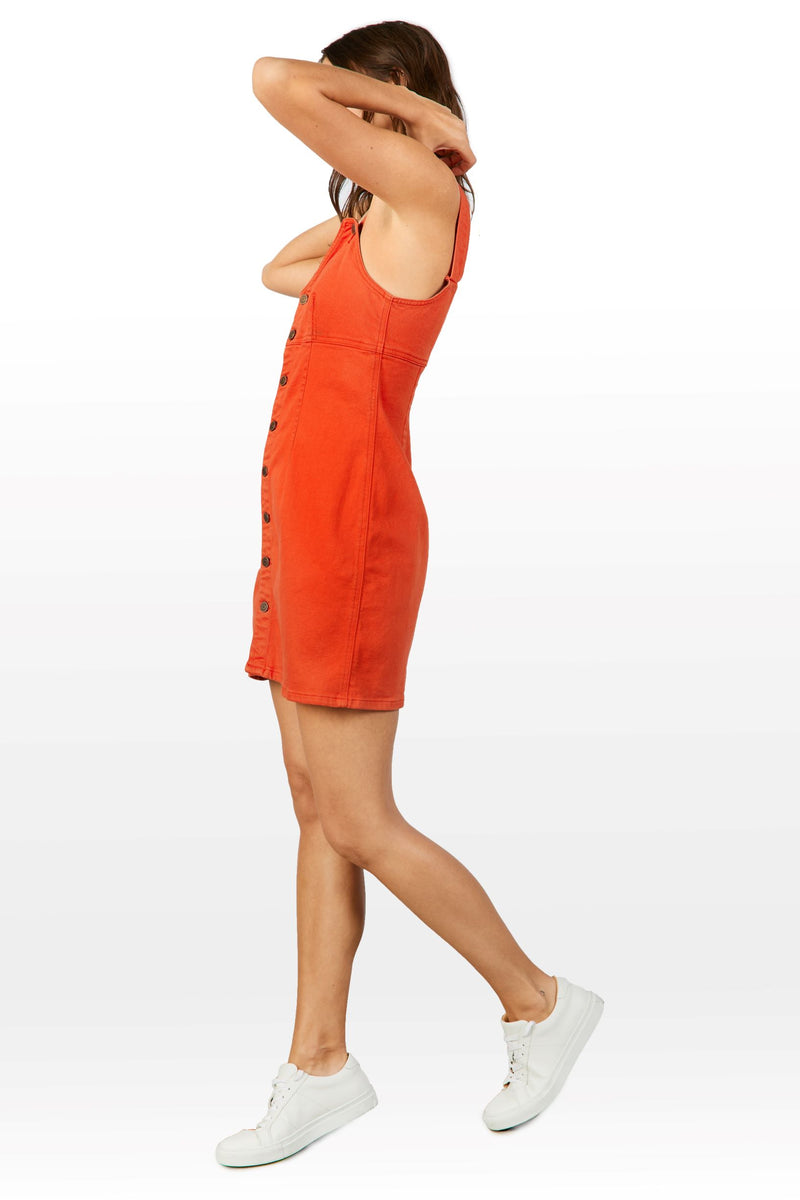 Evelyn Tank Dress in Flame