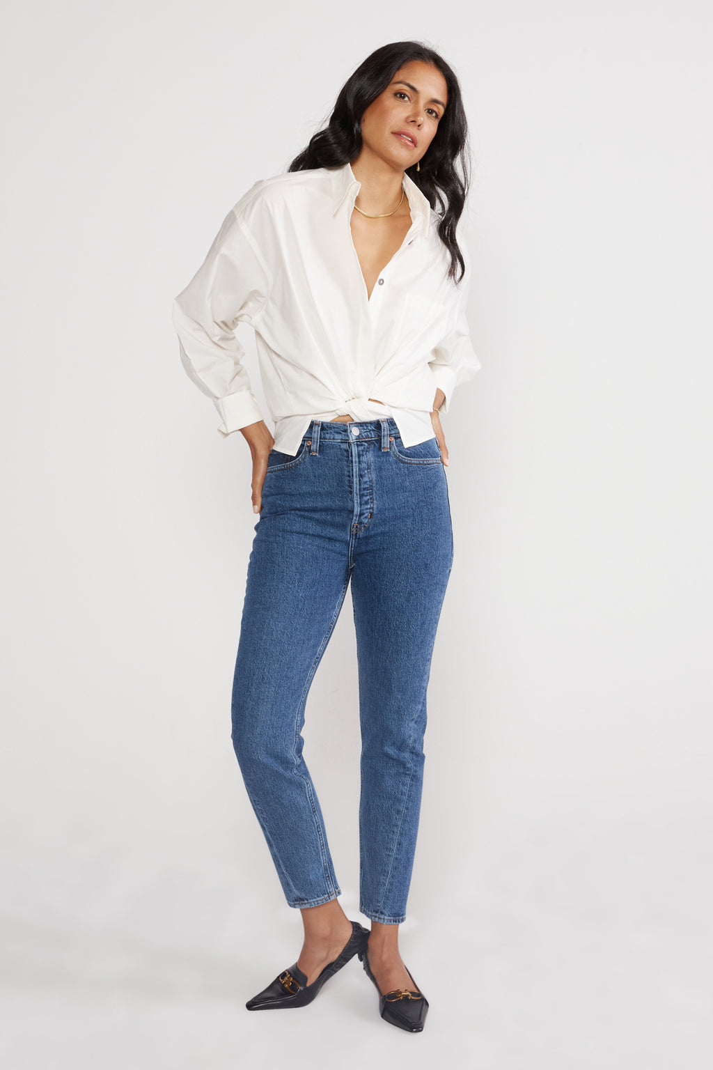 Alex High Rise Skinny With Twist Seam - Sequoia