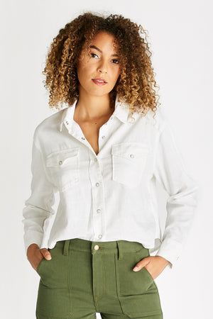 Diana Long Sleeve Top - Sustainable White