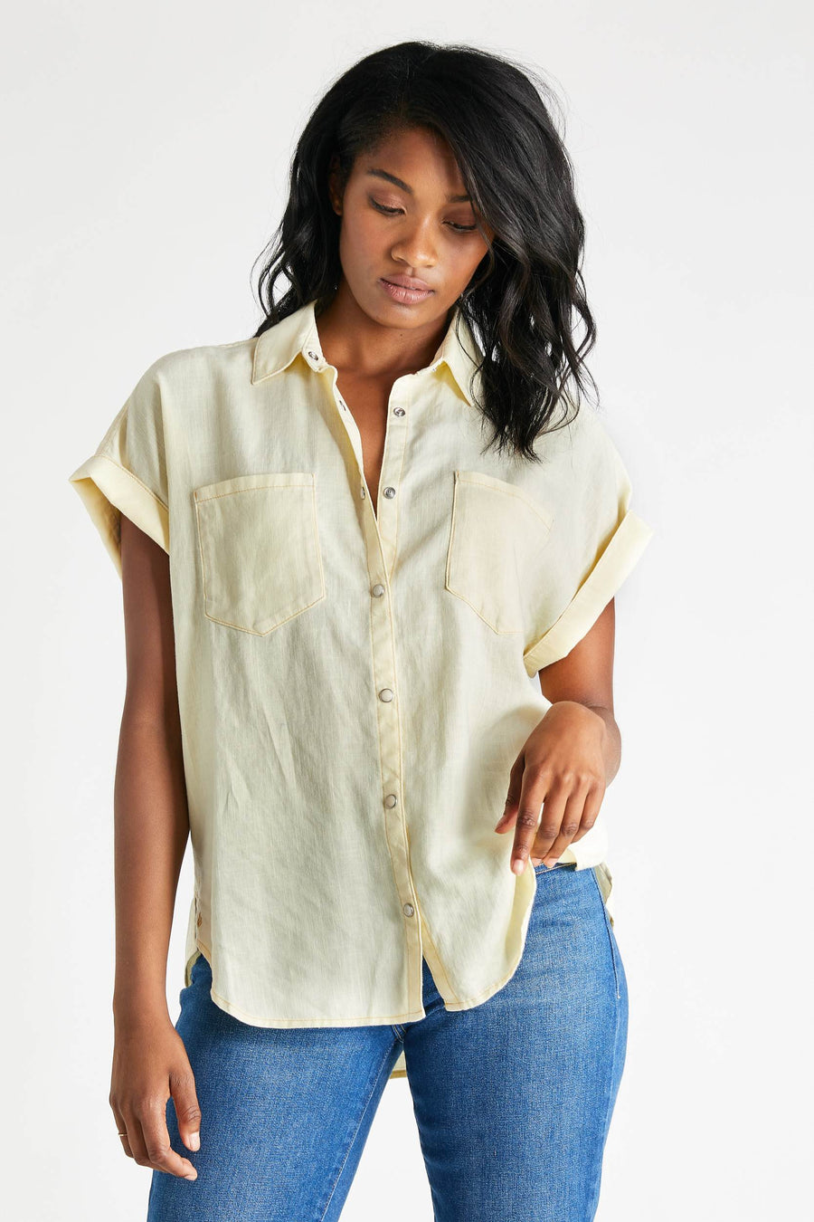 Ash Linen Shirt - Chrysanthemum