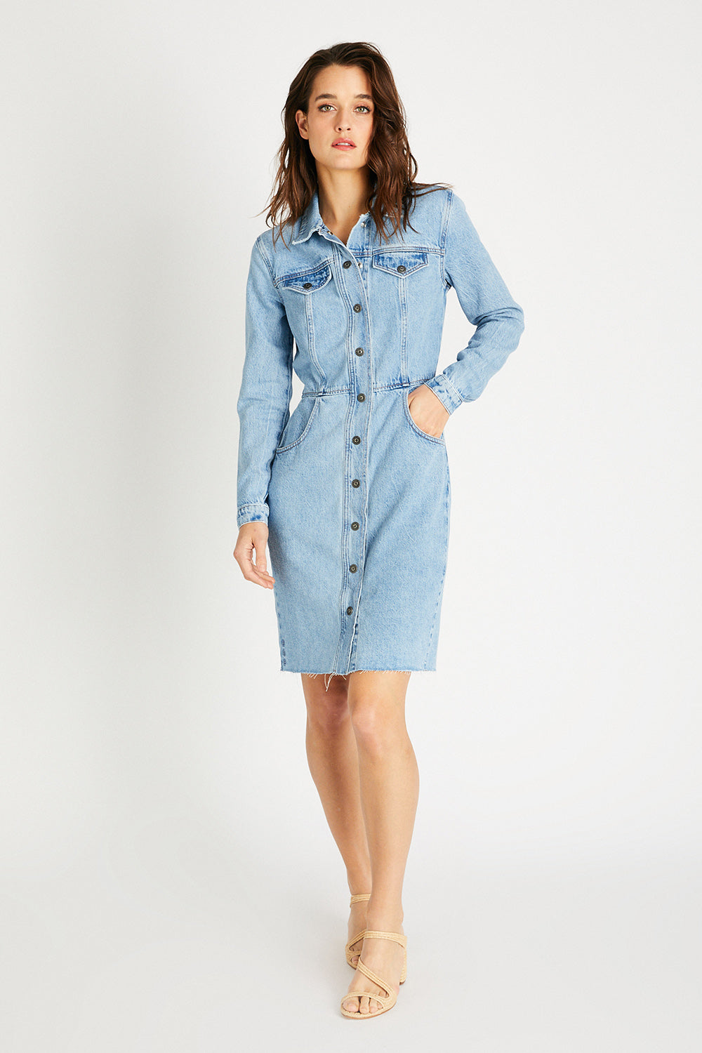 Jordyn Denim Dress - Ice Blue Indigo