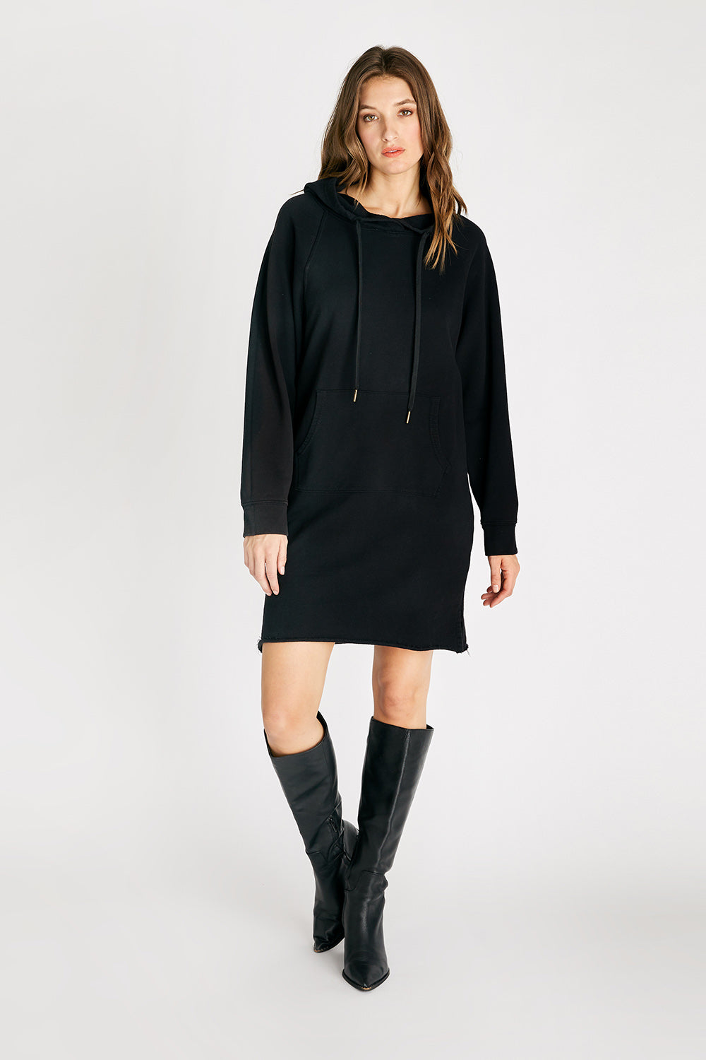 Layla Hooded Dress - Black