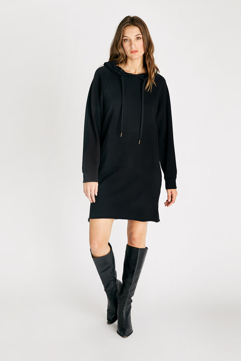 Layla Hooded Knit Dress - Black