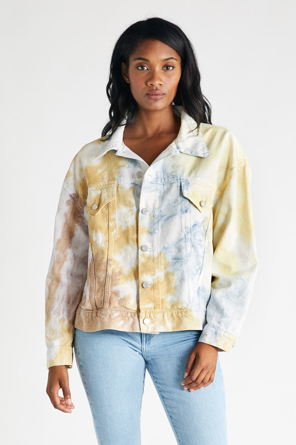 June Jacket - Botanical Tie Dye