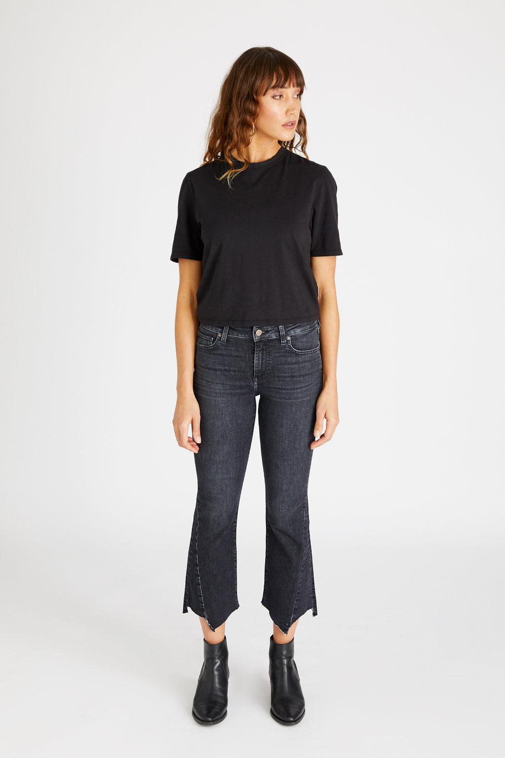 Micki Crop Flare - Dark Pool