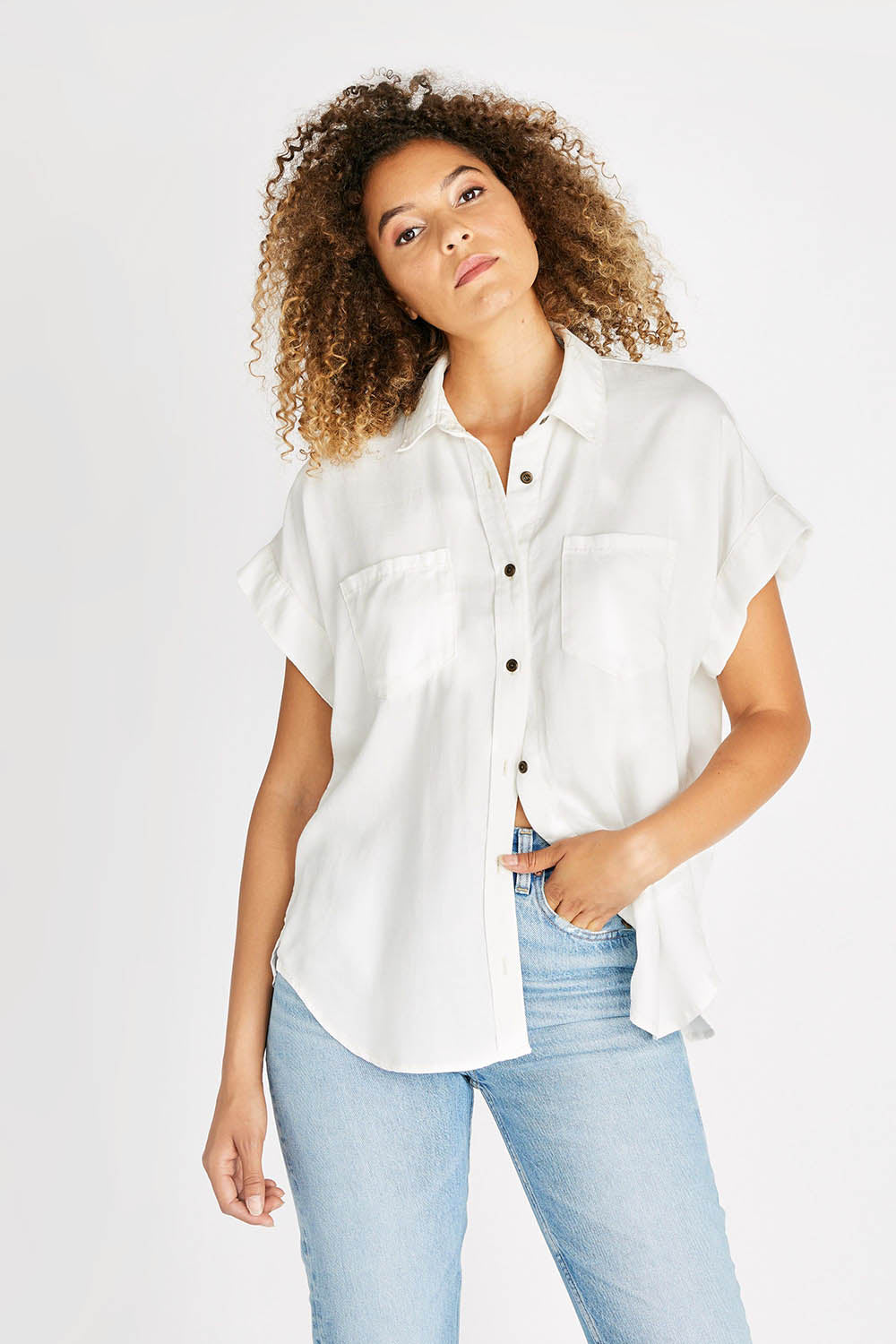 Ash Short Sleeve Shirt - Vintage White