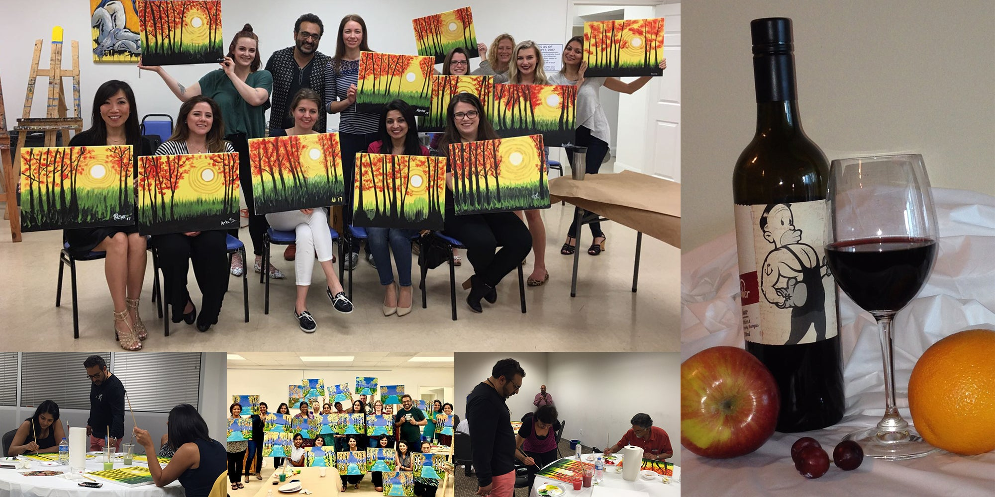 Paint and Wine Houston | Cork n Canvas Houston