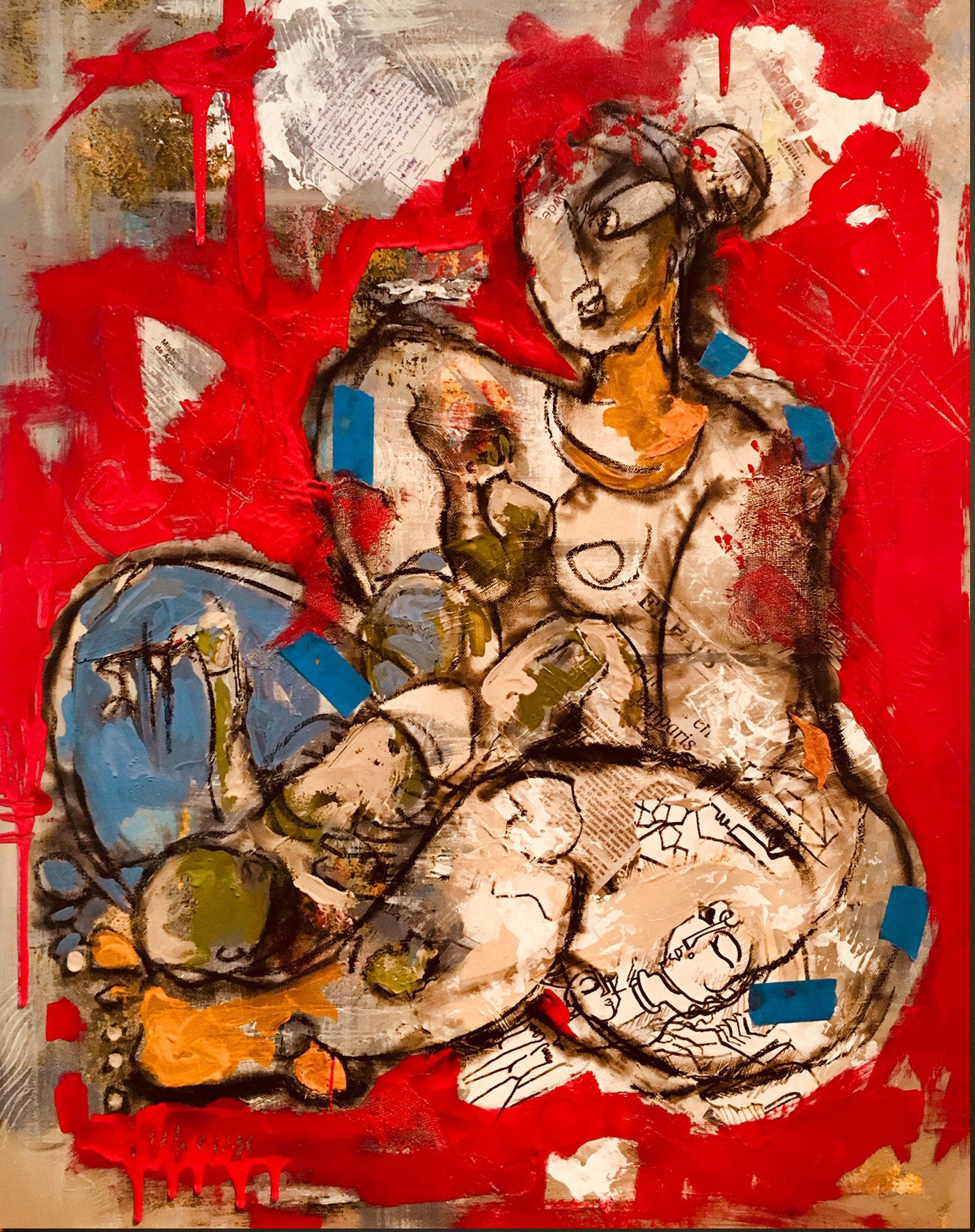 Contemporary Indian Art Houston | Mixed Media on Canvas | Gopaal Seyn