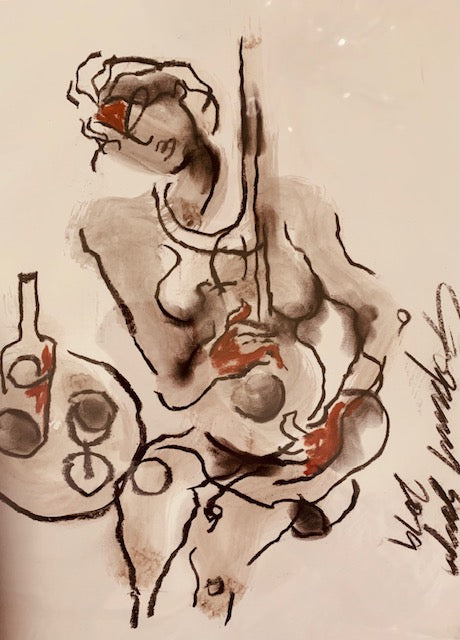 Contemporary Indian Art Houston | Ink, Charcoal and Pastel On Paper | Gopaal Seyn