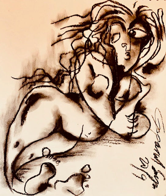 Contemporary Indian Art Houston | Charcoal On Paper | Gopaal Seyn