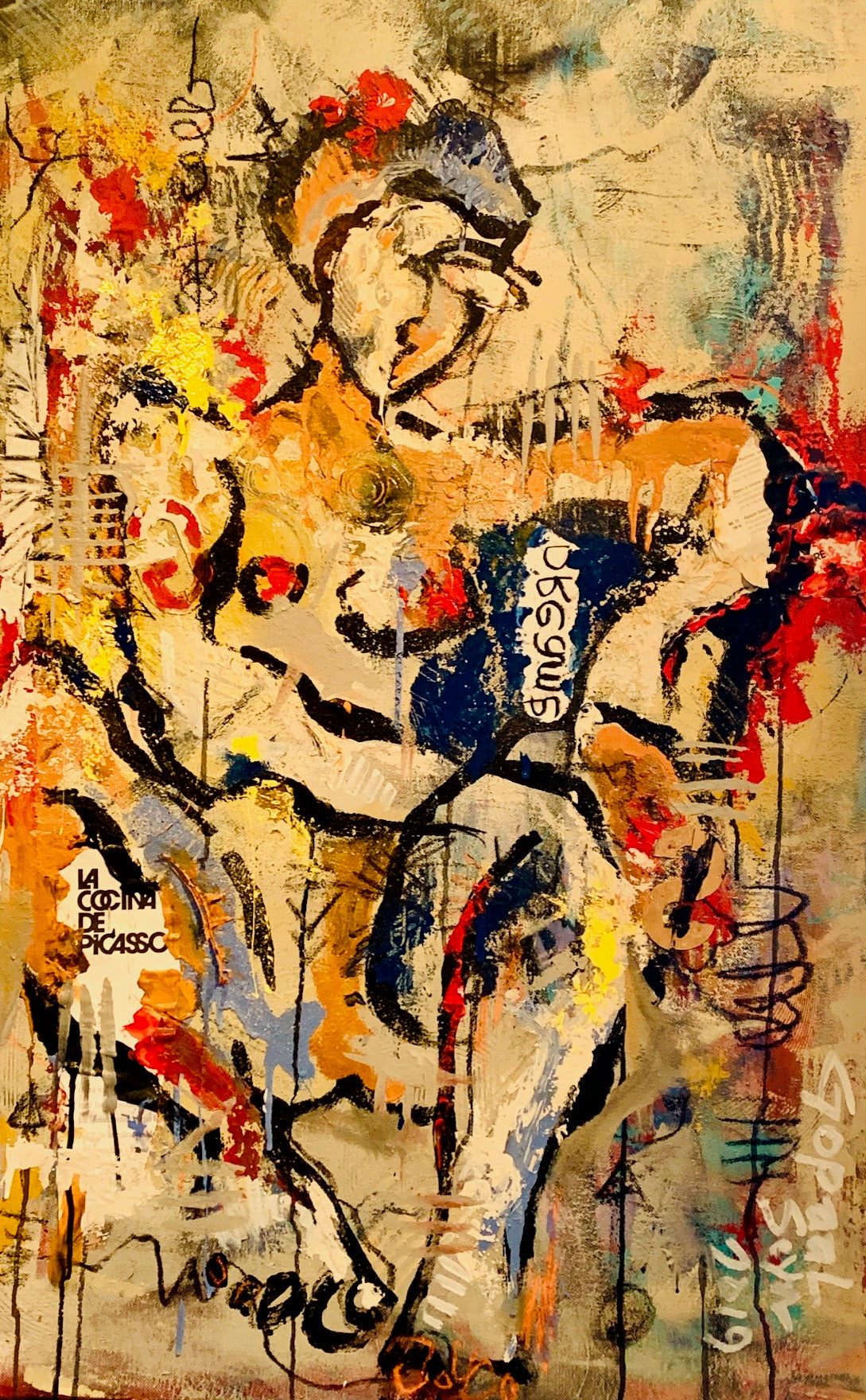 Contemporary Indian Art Houston | Mix Media On Canvas | Gopaal Seyn