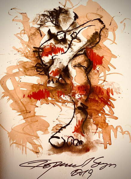 Contemporary Indian Art Houston | Ink, Charcoal and Pastel On Paper | International Artist Gopaal Seyn
