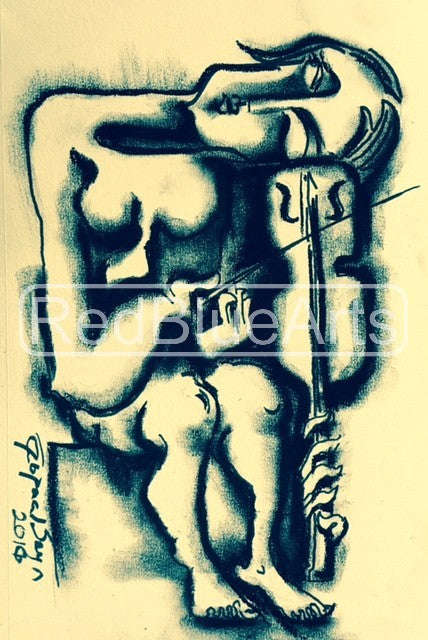 Contemporary Indian Art Houston | Charcoal Sketch | Gopaal Seyn