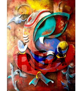 Ganesh - Abstract by Gopaal Seyn - Redbluearts.com