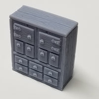 Hero's Hoard - HH100 Series - Library Study - Shelves - 28mm